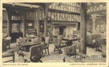 shi050015 - R.M.S. Berengaria, First Class smoking room Ship Ships, Interiors, Postcard Postcards