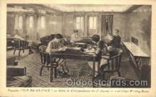 shi050018 - Ile de france, Salon de correspondance des 2 classes Ship Ships, Interiors, Postcard Postcards
