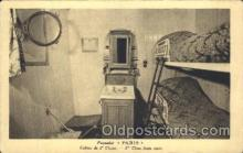 shi050019 - Cabine de 2 class, Paris Ship Ships, Interiors, Postcard Postcards