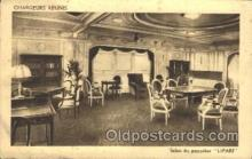 shi050020 - Salon Du Paquebot, Lipari Ship Ships, Interiors, Postcard Postcards