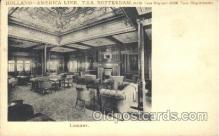 shi050021 - Holland,Library, Rotterdam Ship Ships, Interiors, Postcard Postcards