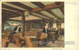 shi050022 - Hamburg Amerika, Rauchzimmer Ship Ships, Interiors, Postcard Postcards