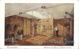 shi050026 - Franconia Laconia Symnasium Ship Ships, Interiors, Postcard Postcards