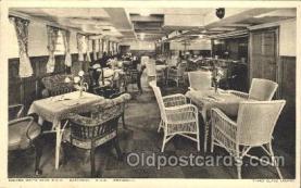 shi050040 - R.M.S. Carinthia, R.M.S. Franconia,Third class lounge Ship Ships, Interiors, Postcard Postcards