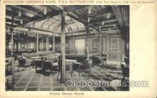 shi050045 - T.S.S. Rotterdam, Upper Smoke Room Ship Ships, Interiors, Postcard Postcards