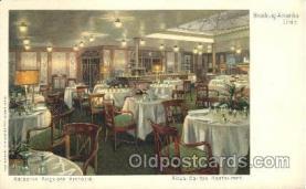 shi050051 - Kaiserin Auguste Victoria, Ritz's Cariton-Restaurant Ship Ships, Interiors, Postcard Postcards