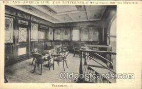shi050063 - T.S.S. Rotterdam,Verandah Ship Ships, Interiors, Postcard Postcards