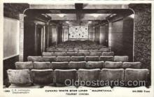 shi050064 - Mauretania, tourist cinema Ship Ships, Interiors, Postcard Postcards