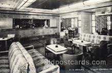 shi050070 - P.&O. Himalaya, First class verandah caf? Ship Ships, Interiors, Postcard Postcards