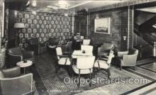 shi050072 - P.&O. Himalaya, First Class observation lounge Ship Ships, Interiors, Postcard Postcards
