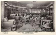 shi050074 - Queen Elizabeth, cabin smoking room Ship Ships, Interiors, Postcard Postcards