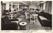 shi050075 - Mauretania, Third class lounge Ship Ships, Interiors, Postcard Postcards