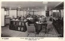 shi050077 - Queen Elizabeth,Tourist Lounge Ship Ships, Interiors, Postcard Postcards