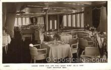 shi050079 - Queen Mary, Cabin Verandah Grill Ship Ships, Interiors, Postcard Postcards