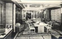 shi050082 - P.&O. Himalaya, first class reading and writing room Ship Ships, Interiors, Postcard Postcards