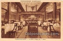 shi050178 - Mariette Pacha, La Salle a Manger des Classes Messageries Maritimes Ship Postcard Post Card