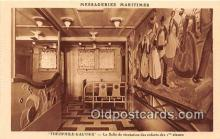 shi050180 - Theophile Gautier, La Salle De Recreation des Enfants Des Classes Messageries Maritimes Ship Postcard Post Card