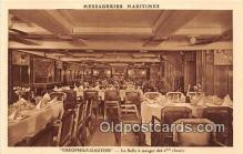 shi050182 - Theophile Gautier, La Salle a Manger des Classes Messageries Maritimes Ship Postcard Post Card