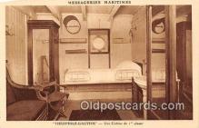 shi050187 - Theophile Gautier, Une Cabine de 1 Classes Messageries Maritimes Ship Postcard Post Card
