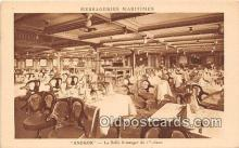 shi050191 - Angkor, La Salle A Manger de 1 Classe Messageries Maritimes Ship Postcard Post Card