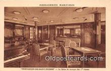 shi050192 - Bernardin De Saint Pierre, Le Salon de Musique Des 1 Classes Messageries Maritimes Ship Postcard Post Card