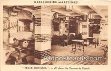 shi050194 - Felix Roussel, 1 Classe La Terrasse du Fumoir Messageries Maritimes Ship Postcard Post Card