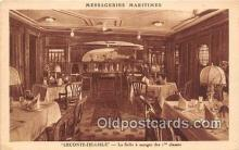 shi050195 - Leconte De Lisle, La Salle a Manger Des 1 Classes Messageries Maritimes Ship Postcard Post Card