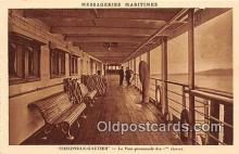 shi050199 - Theophile Gautier, Le pont Promenade des 1 Classes Messageries Maritimes Ship Postcard Post Card