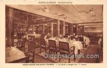 shi050201 - Bernardin De Saint Pierre, La Salle a Manger des 1 Classes Messageries Maritimes Ship Postcard Post Card