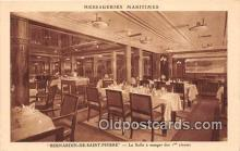 shi050202 - Bernardin De Saint Pierre, La Salle a Manger des 1 Classes Messageries Maritimes Ship Postcard Post Card