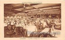 shi050205 - Angkor, La Salle A Manger de 1 Classe Messageries Maritimes Ship Postcard Post Card