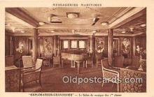 shi050207 - Explorateur Grandidier, Le Salon de Musique des 1 Classes Messageries Maritimes Ship Postcard Post Card