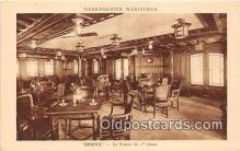shi050209 - Sphinx, Le Fumoir de 1 Classe Messageries Maritimes Ship Postcard Post Card