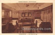 shi050210 - D'Artagnan, Une Cabine de Luxe Messageries Maritimes Ship Postcard Post Card