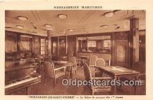 shi050211 - Bernardin De Saint Pierre, Le Salon de Musique Des 1 Classes Messageries Maritimes Ship Postcard Post Card