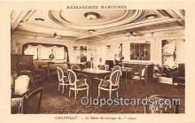 shi050212 - Chantilly , Le Salon de Musique de 1 Classe Messageries Maritimes Ship Postcard Post Card