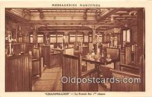 shi050220 - Champollion, Le Fumoir Des 1 Classes Messageries Maritimes Ship Postcard Post Card
