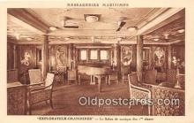shi050222 - Explorateur Grandidier, Le Salon de Musique des 1 Classes Messageries Maritimes Ship Postcard Post Card