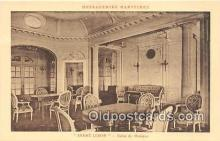 shi050226 - Andre Lebon, Salon De Musique Messageries Maritimes Ship Postcard Post Card