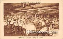 shi050227 - Angkor, La Salle A Manger de 1 Classe Messageries Maritimes Ship Postcard Post Card