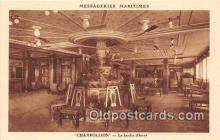 shi050229 - Champollion, Le Jardin d'Hiver Messageries Maritimes Ship Postcard Post Card
