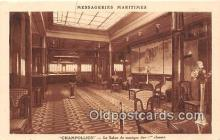 shi050231 - Champollion, Le Salon De Musique Des 1 Classes Messageries Maritimes Ship Postcard Post Card