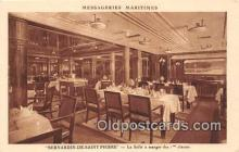 shi050235 - Bernardin De Saint Pierre, La Salle a Manger des 1 Classes Messageries Maritimes Ship Postcard Post Card