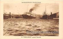 shi050236 - Le Paul Lecat, Quittant Marzcille Messageries Maritimes Ship Postcard Post Card