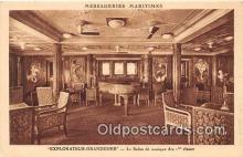 shi050237 - Explorateur Grandidier, Le Salon de Musique des 1 Classes Messageries Maritimes Ship Postcard Post Card