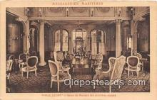 shi050238 - Paul Lecat, Salon De Musique Des Premieres Classes Messageries Maritimes Ship Postcard Post Card
