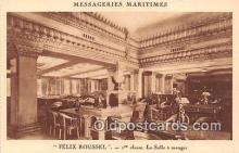 shi050239 - Felix Roussel, 1 Classe La Salle A Manger Messageries Maritimes Ship Postcard Post Card