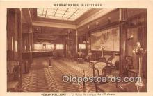 shi050240 - Champollion, Le Salon De Musique Des 1 Classes Messageries Maritimes Ship Postcard Post Card