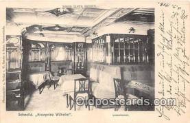 shi050247 - Schnelld, Kronprinz Wilhelm Lesezimmer Ship Postcard Post Card