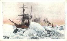 shi051008 - Caught  in ICE Ship Wrecks, Ships Postcard Postcards